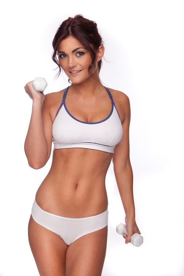 Donna di forma fisica del Brunette fotografie stock