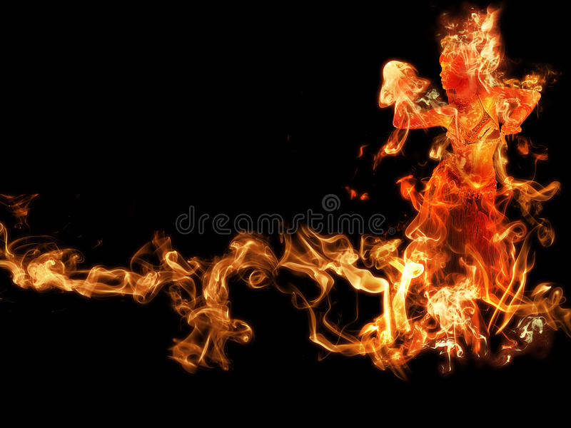 Donna di fuoco royalty illustrazione gratis
