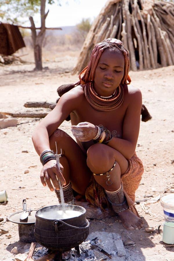 Donna di Himba fotografia stock libera da diritti