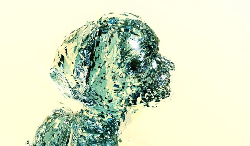 Donna di intelligenza artificiale illustrazione di stock