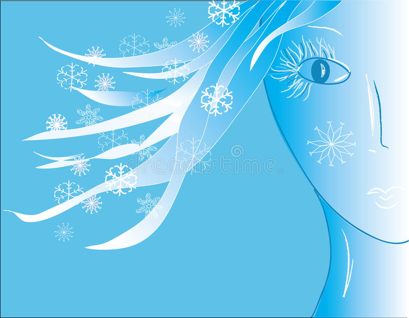 Donna di inverno illustrazione vettoriale
