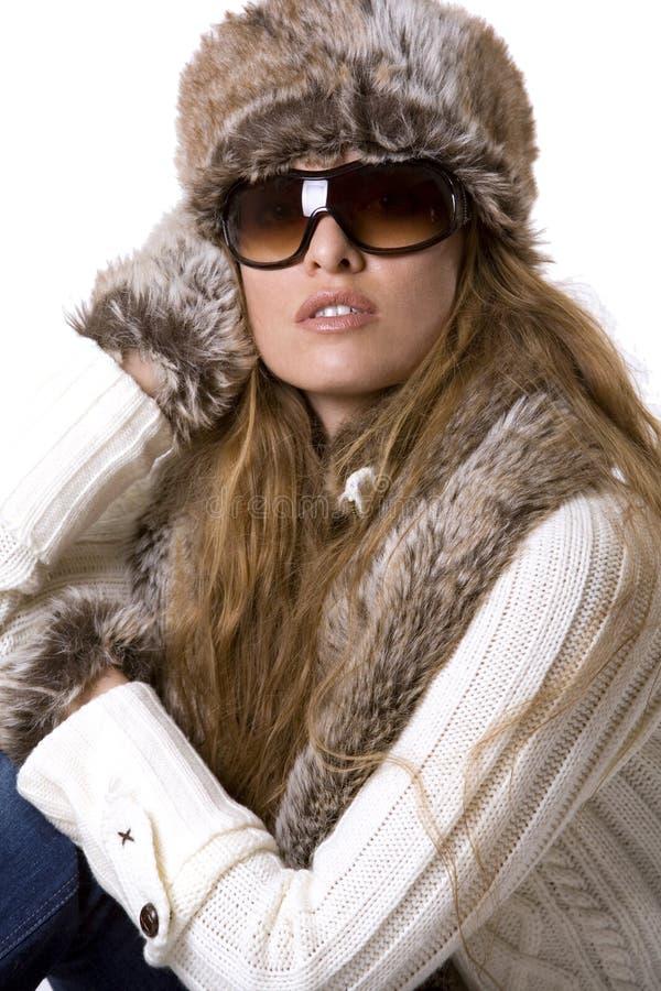 Donna di inverno immagine stock libera da diritti