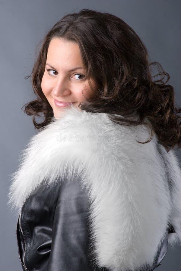 Donna di inverno fotografia stock