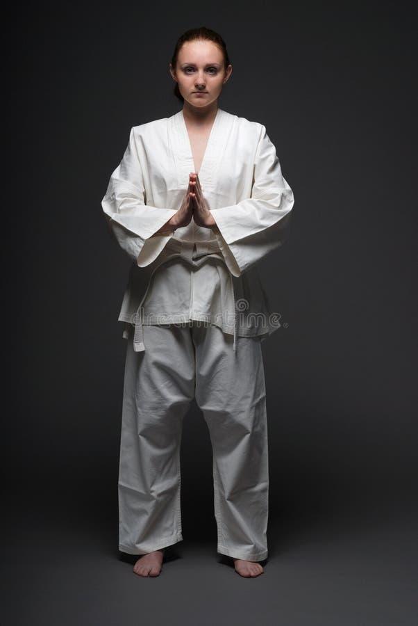 Donna di judo fotografie stock libere da diritti