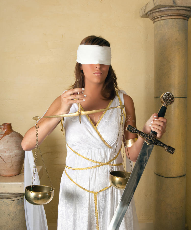 Donna di Justitia fotografie stock libere da diritti