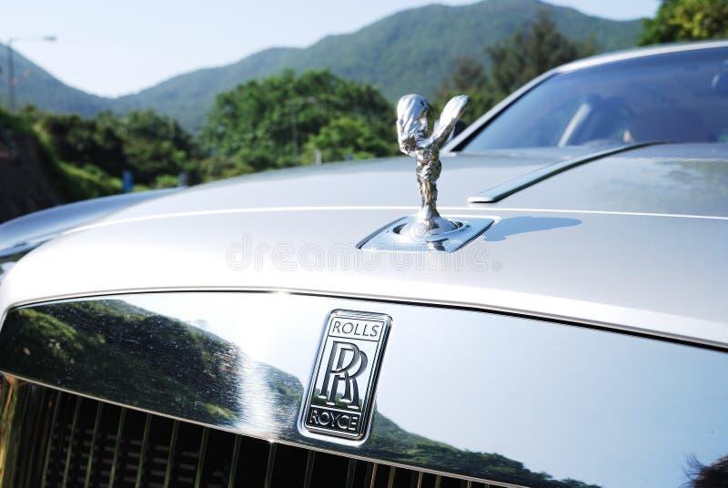 Donna di marca di Rolls Royce immagini stock