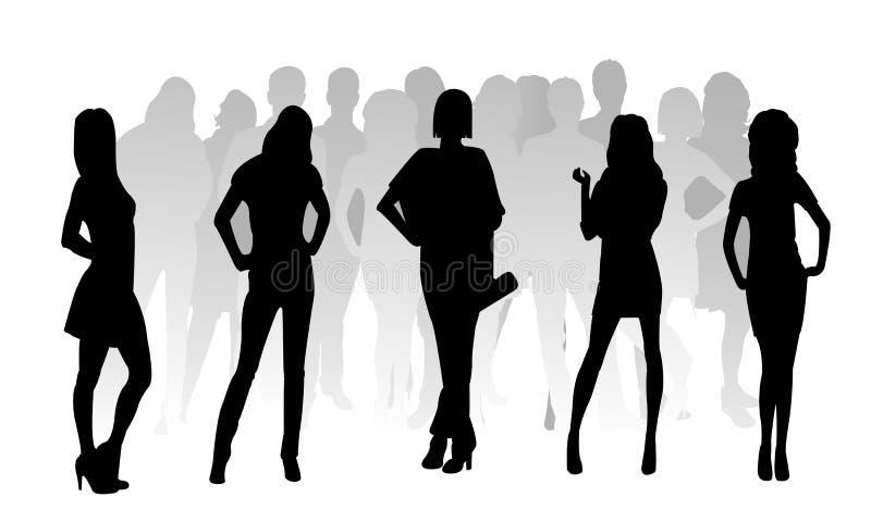 Donna di modo della siluetta royalty illustrazione gratis
