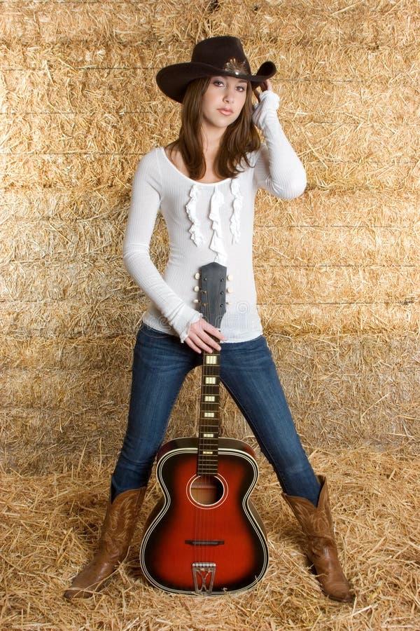 Donna di musica country immagini stock