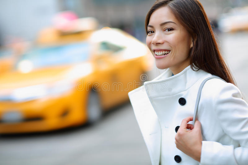 Donna di New York Manhattan fotografia stock libera da diritti