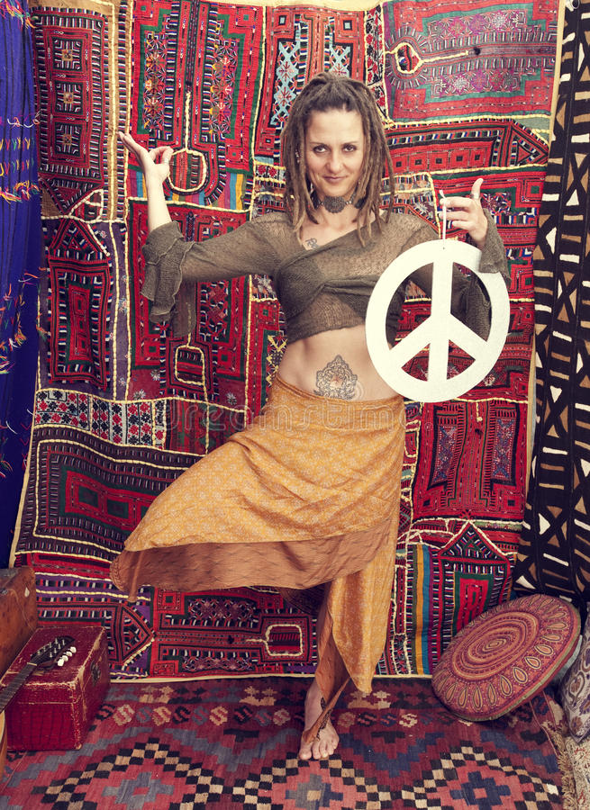 Donna di pace fotografia stock