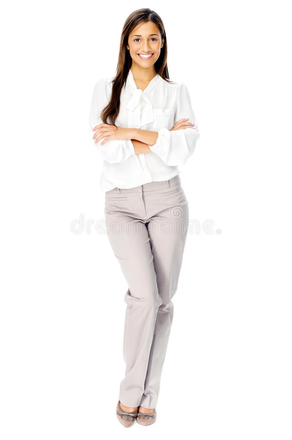 Donna di presentazione di affari. fotografia stock libera da diritti