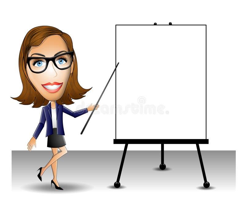 Donna di presentazione di affari illustrazione vettoriale