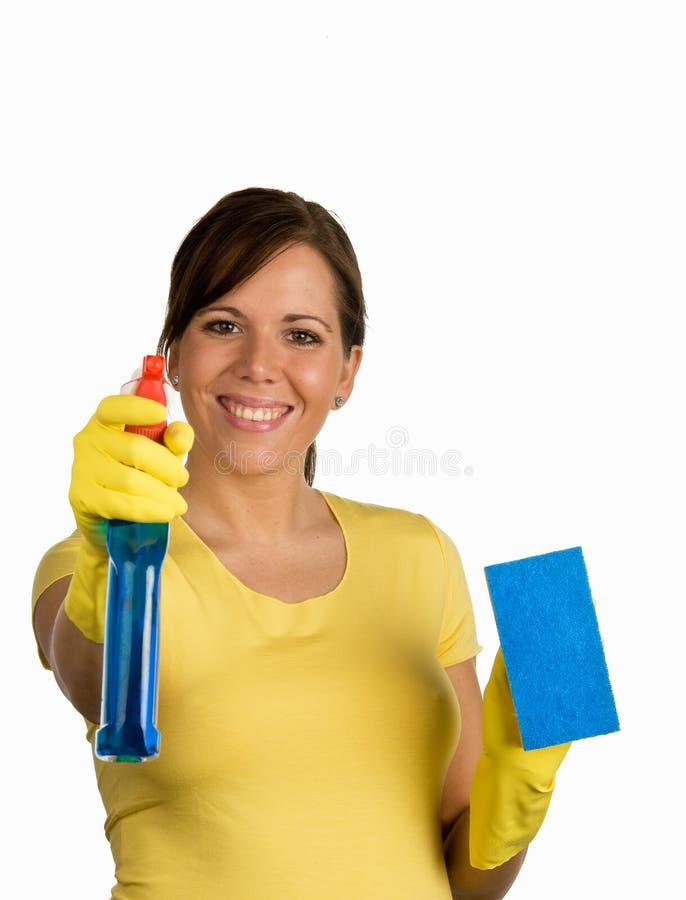 Donna di pulizia immagini stock libere da diritti