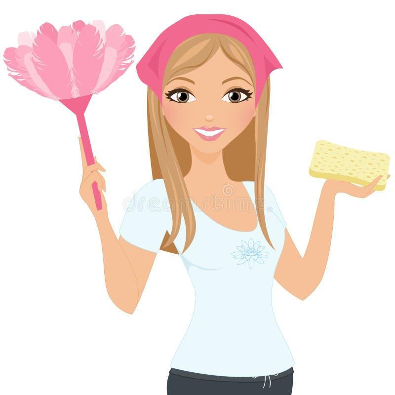 Donna di pulizia royalty illustrazione gratis