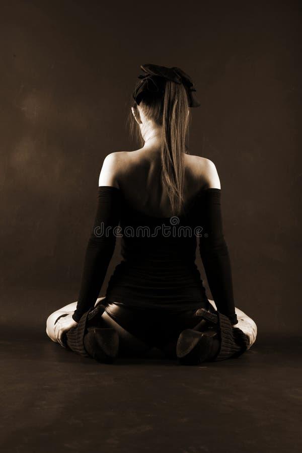 Donna di seduta Relax immagini stock