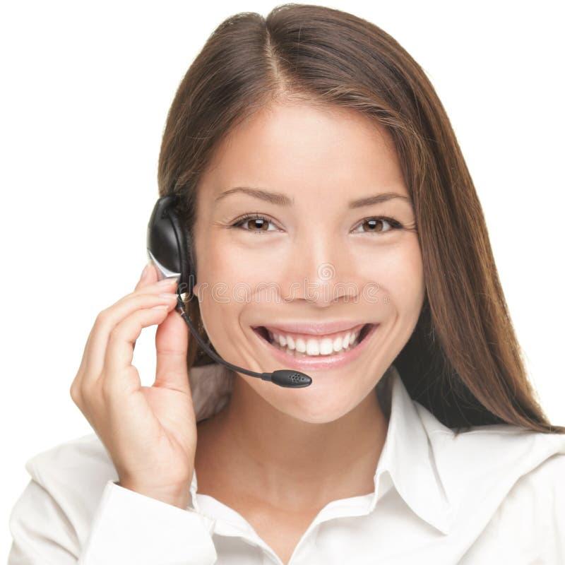 Donna di servizio di assistenza al cliente