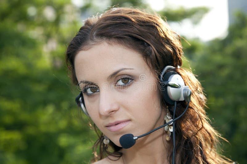 donna di servizio di assistenza al cliente immagine stock