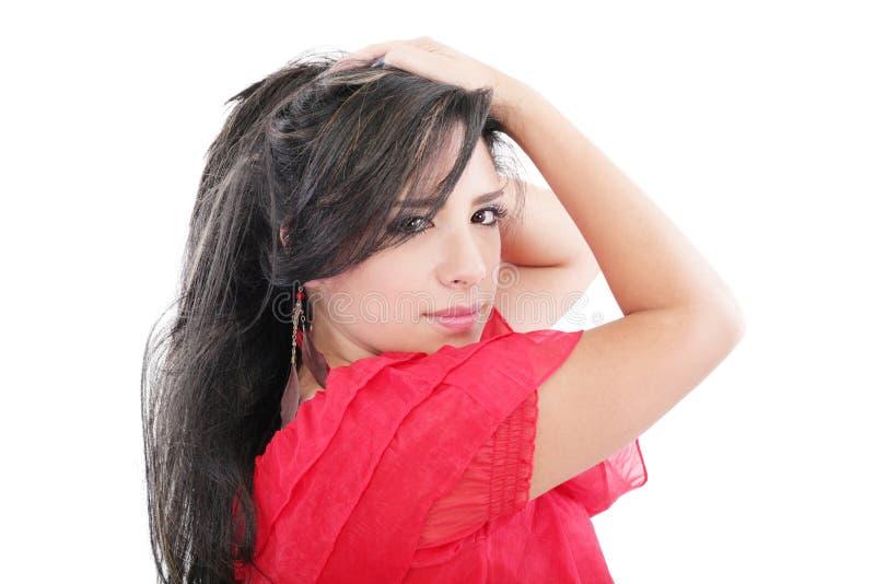 Donna di sguardo sexy fotografie stock libere da diritti