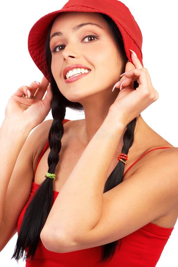 Donna di sorriso fotografia stock