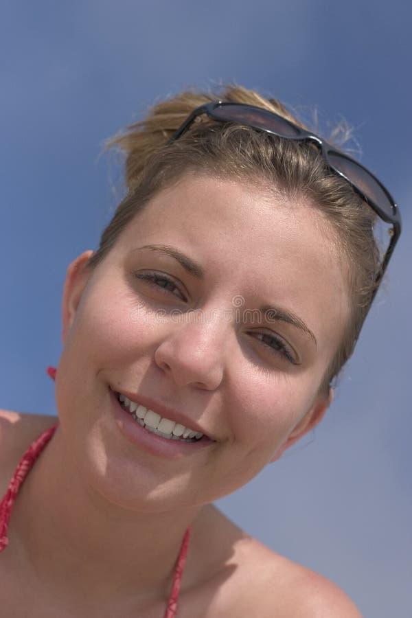 Donna di sorriso immagine stock