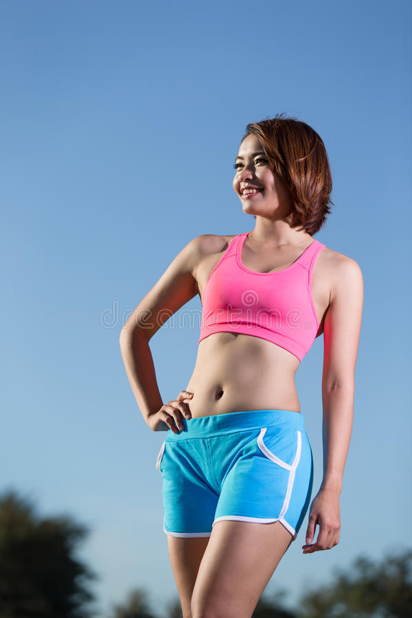 Donna di sport di salute di bellezza fotografia stock libera da diritti