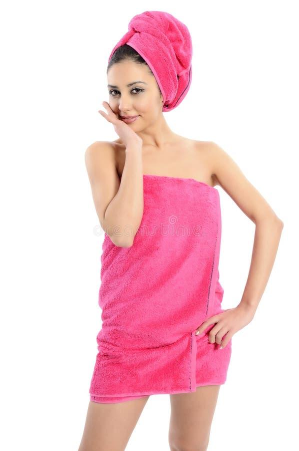 Donna di trattamento di bellezza della stazione termale fotografie stock