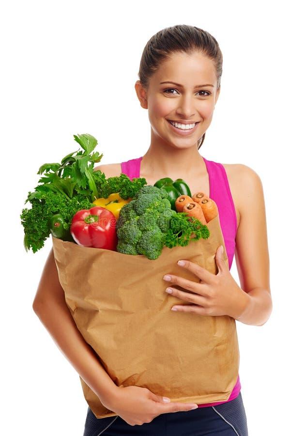 Donna di verdure fotografia stock libera da diritti