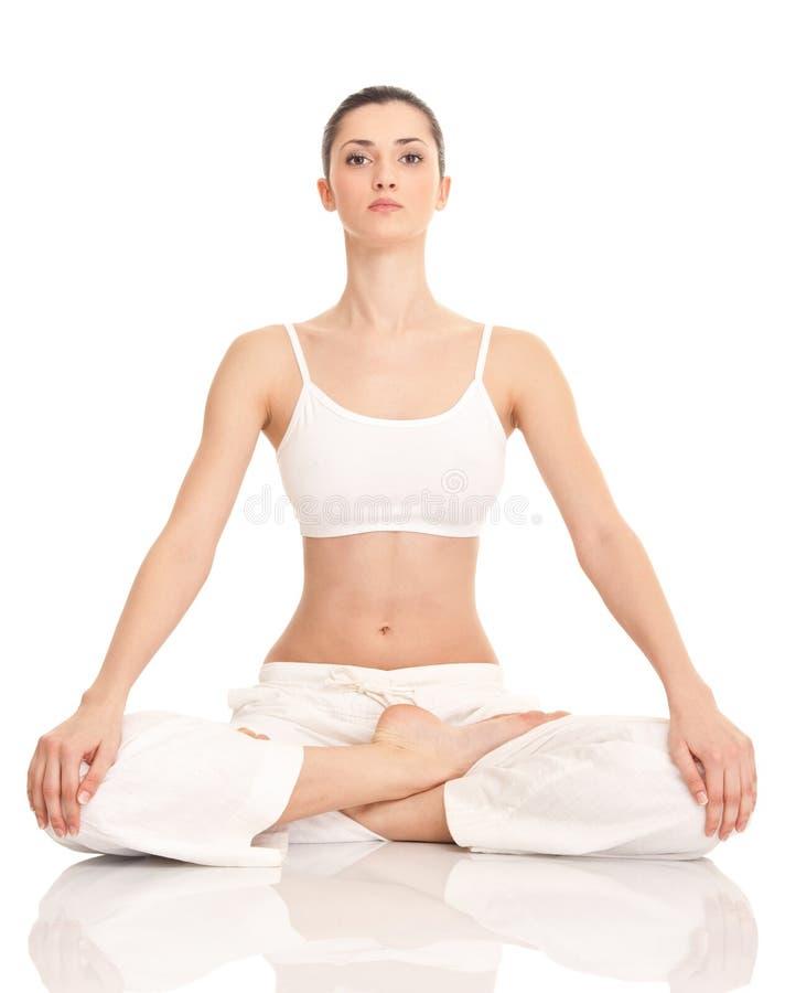 Donna di yoga immagini stock