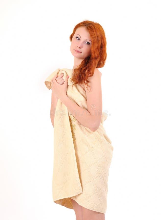 Donna dopo il bagno fotografia stock libera da diritti