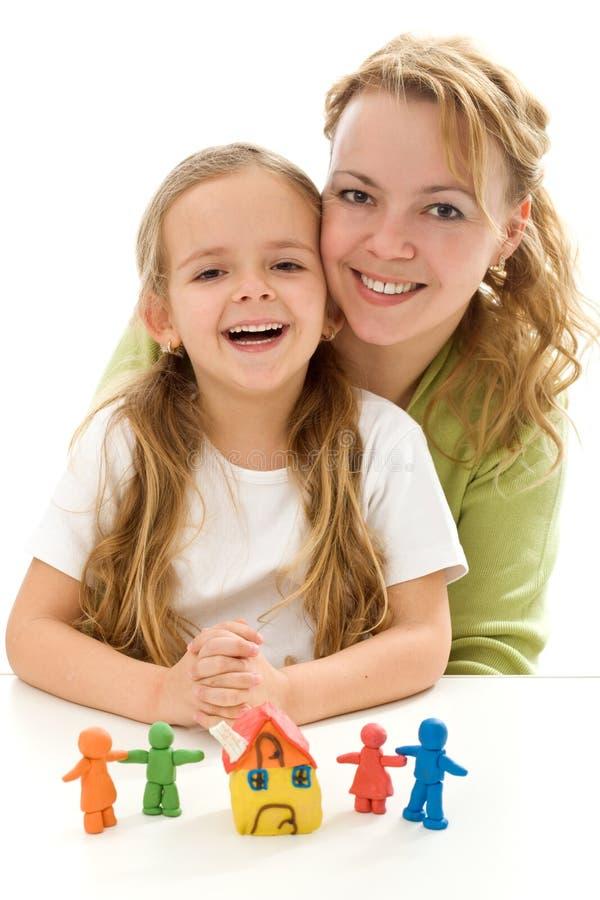 Donna e bambina felici fotografie stock libere da diritti