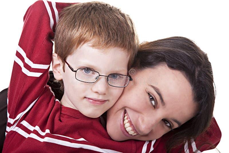 Donna e bambino felici immagine stock libera da diritti