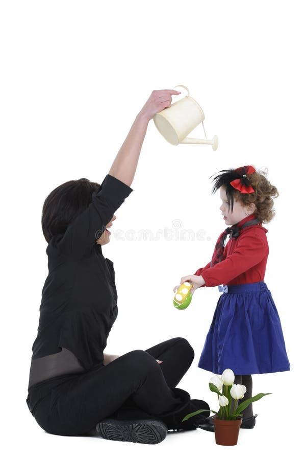 Donna e figlia fotografia stock libera da diritti