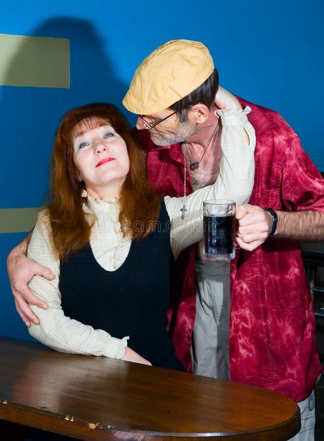Donna ed uomo rossi fotografia stock libera da diritti