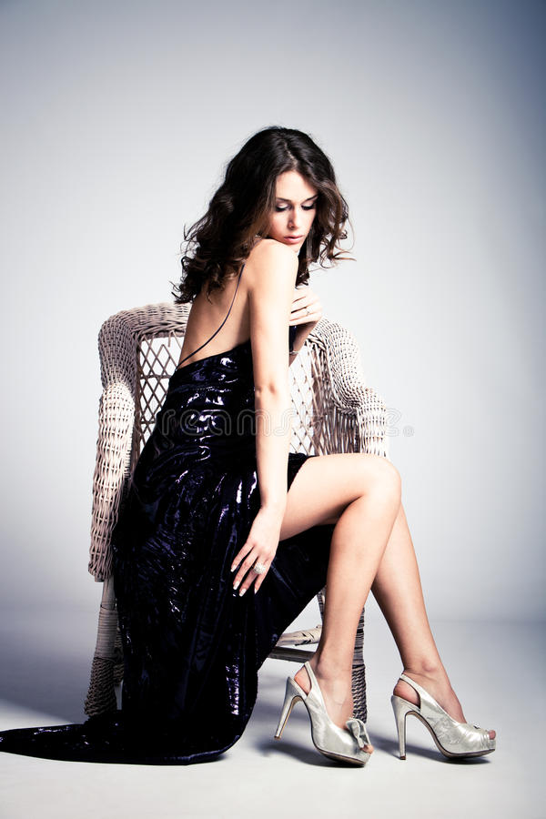 Donna elegante immagini stock libere da diritti