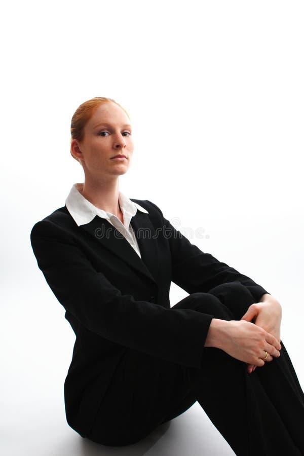 Donna elegante di affari fotografia stock libera da diritti