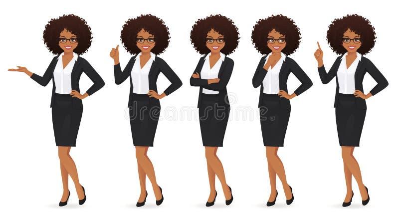 Donna elegante di affari illustrazione di stock