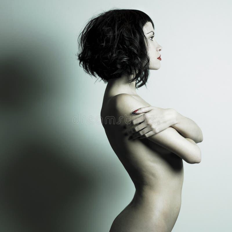 Donna Elegante Nuda Immagini Stock Libere da Diritti