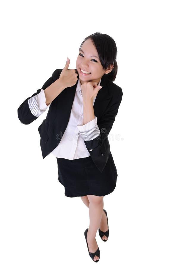 Donna emozionante di affari fotografia stock