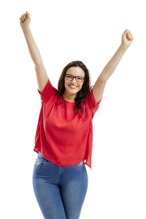 Donna felice immagini stock