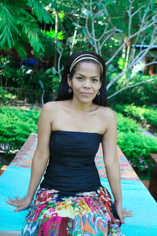 donna felice asiatica immagini stock