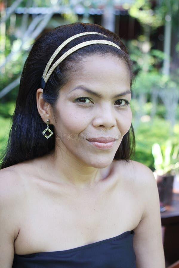 donna felice asiatica fotografie stock libere da diritti