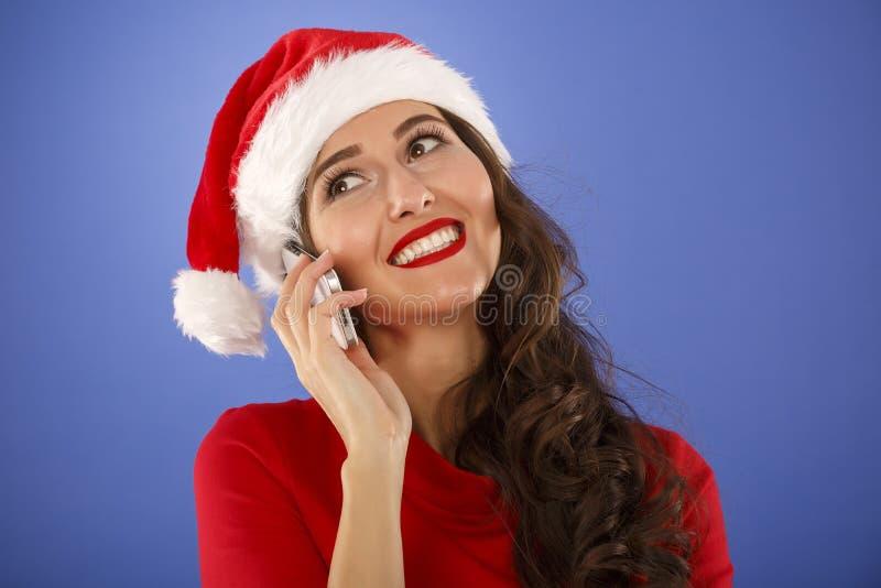donna felice con uno Smart Phone immagini stock