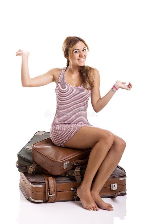 Donna felice del ypung immagine stock libera da diritti