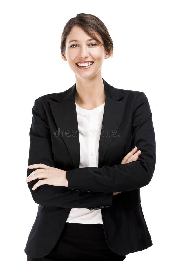 Donna felice di affari immagine stock libera da diritti