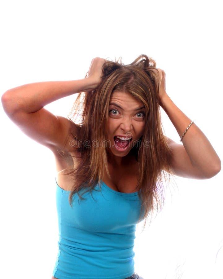 Donna frustrata fotografie stock libere da diritti