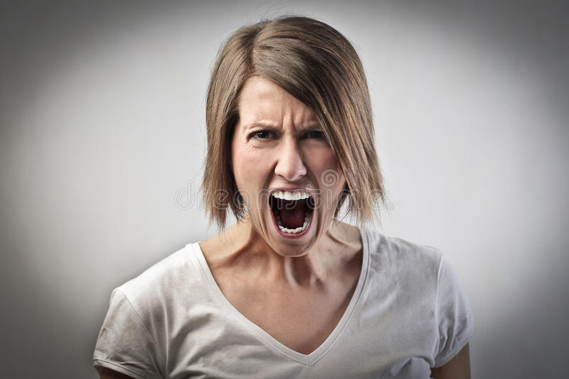 Donna furiosa fotografie stock libere da diritti