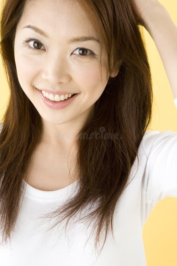 Donna giapponese sorridente fotografia stock