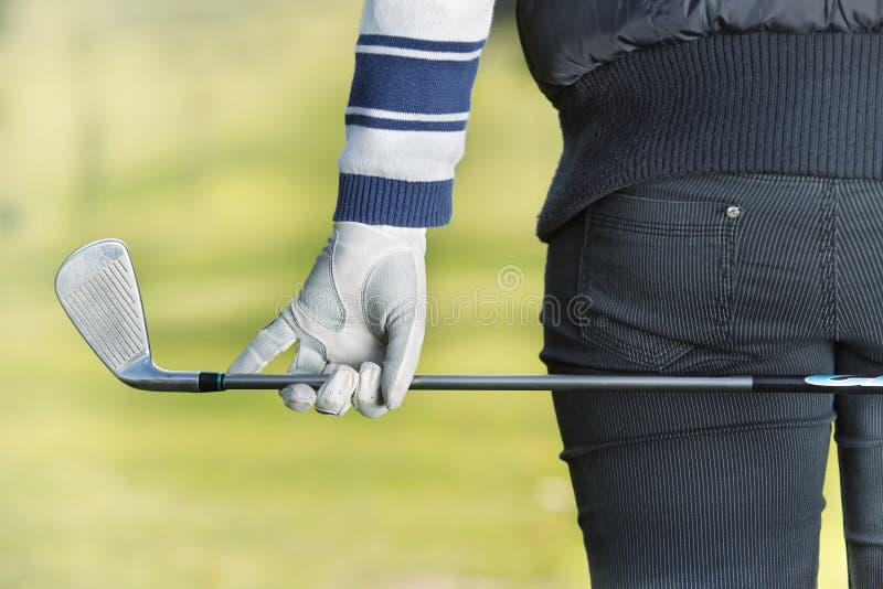 Donna - giocatore di golf immagini stock libere da diritti