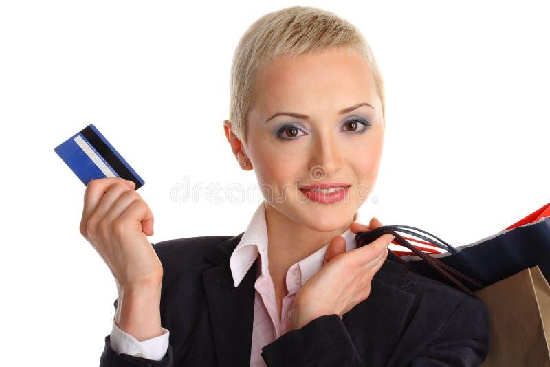 Donna giovane d'acquisto immagini stock libere da diritti