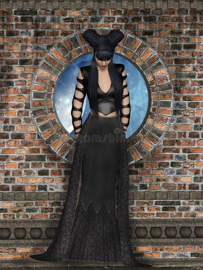 Donna gotica immagini stock